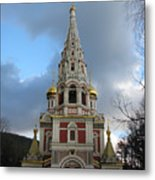 Russian Church At Shipka Metal Print