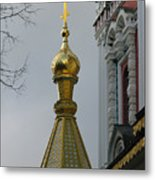 Russian Church Dome Metal Print