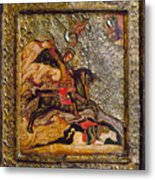 Russian Icon: Demetrius Metal Print