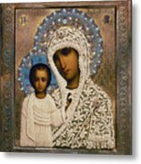 Russian Icon: Mary Metal Print