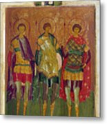 Russian Icon: Saints Metal Print