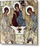Russian Icons: The Trinity Metal Print