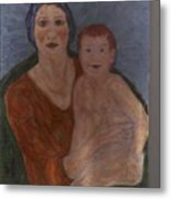 Russian Mother with Child Metal Print