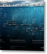 Russian Navy Submarines Infographic Metal Print