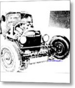 Russian Rat Rod Metal Print