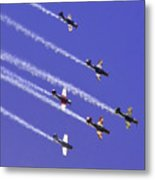 Russian Roolettes And Blue Sky Metal Print