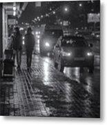 Russian Street Scene At Night 2015 Metal Print