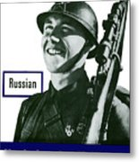 Russian - This Man Is Your Friend Metal Print