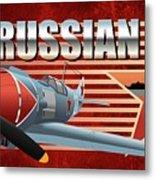 Russian War Bird Metal Print