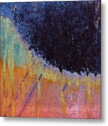 Rust Abstract With Curved Line Metal Print