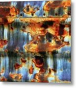 Rust And Blue Metal Print