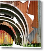 Rust And Our Carbon Footprint Metal Print