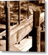 Rust And Wood Metal Print
