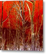 Rust Forest Metal Print