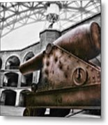 Rusted Cannon Metal Print
