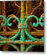 Rusted Gates Metal Print