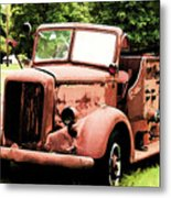 Rusted Mack Fire Engine Metal Print