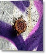 Rusted Nut Metal Print