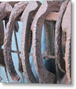 Rusted Shoes Metal Print