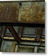 Rusted Steel Support Structure Metal Print