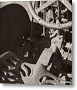 Rusted Tractor Metal Print
