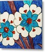 Rustem Pasha Mosque Flower Tile Metal Print