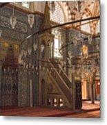 Rustem Pasha Mosque Interior Metal Print