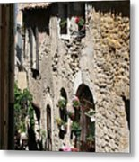 Rustic Provence Alley Metal Print