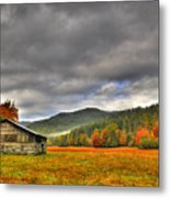 Rustic Autumn Barn Metal Print