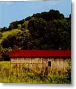Rustic Barn In Carthage Tennessee Metal Print