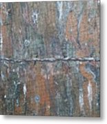 Rustic Barn Wood And Wire Metal Print