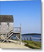 Rustic Boathouse On The Beach. Metal Print