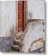 Rustic Brown Door Of Portugal Metal Print