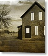Rustic County Farm House Metal Print
