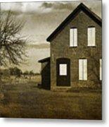 Rustic County Farm House Metal Print