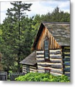 Rustic Farmhouse At Old World Wisconsin Metal Print