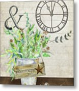 Rustic Farmhouse Our Happy Place Metal Print
