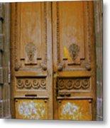 Rustic French Door Metal Print