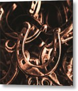 Rustic Horse Shoes Metal Print