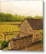 Rustic Italian Cottage Metal Print by Denise Darby