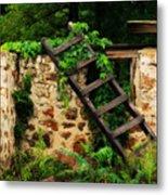 Rustic Ladder Metal Print