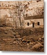 Rustic Lockhouse Mural Metal Print