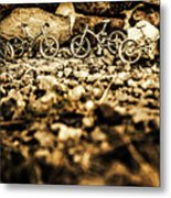 Rustic Mountain Bikes Metal Print