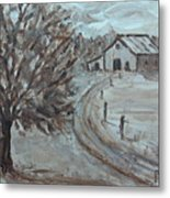 Rustic Road Metal Print