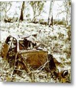 Rustic Rural Decay Metal Print