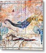 Rustic Seahorse Metal Print