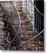 Rustic Staircase Metal Print