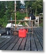Rustic Summer Dock Metal Print