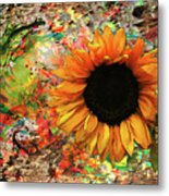 Rustic Sunroot Metal Print