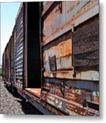 Rustic Train Metal Print